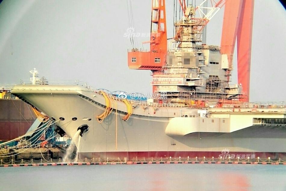 赶快服役!中国首艘国产航母最关键部件安装完毕-新华图闻网